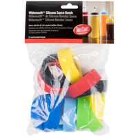 Tablecraft SB53A Assorted Silicone Widemouth Squeeze Bottle Bands (53mm) - 12/Pack