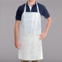 Chicopee 0272 Chix White Disposable Food Service Apron - 100/Case