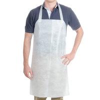 Chicopee 0272 Chix White Disposable Food Service Apron   - 100/Case