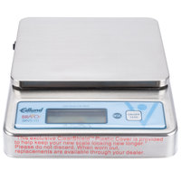 Edlund BRVS-10 BRAVO! 10 lb. Stainless Steel Digital Portion Scale with ClearShield Protective Cover