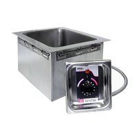 APW Wyott HFW-12D 1/2 Size Insulated One Pan Drop In Hot Food Well with Drain - 120V