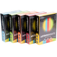 Astrobrights 22999 8 1/2 inch x 11 inch Assorted Case of 24# Smooth Color Copy Paper - 2500/Sheets