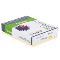 Universal Office UNV11201 8 1/2 inch x 11 inch Canary Ream of 20# Color Copy Paper - 500/Sheets