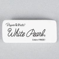 Paper Mate 70626 White Pearl Eraser - 12/Box