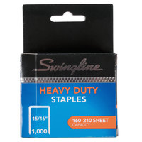 Swingline 35320 210 Strip Count Heavy-Duty Chisel Point Staples - 1000/Box