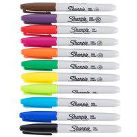 Sharpie SAN30072 Fine Point Permanent Marker, Color Assortment - 12/Pack