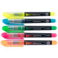 Universal UNV08840 Liquid Chisel Tip Pen Style Highlighter, Color Assortment