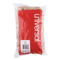 Universal UNV00184 3 1/2 inch x 1/2 inch Beige #84 Rubber Band, 1 lb. - 155/Bag