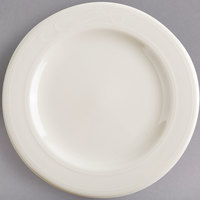 Homer Laughlin HL6041000 6 3/8 inch Ivory (American White) China Plate - 36/Case