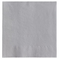 Choice 10 inch x 10 inch Silver/Gray 2-Ply Beverage / Cocktail Napkins - 250/Pack