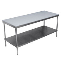 Advance Tabco SPT-247 Poly Top Work Table 24 inch x 84 inch with Undershelf