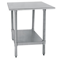 Advance Tabco TT-240-X 24 inch x 30 inch 18 Gauge Stainless Steel Work Table with Galvanized Undershelf