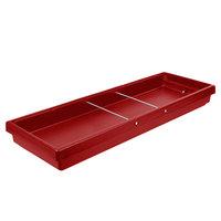 Cambro BUF72 68 inch x 24 inch x 7 inch Red Buffet Bar Base