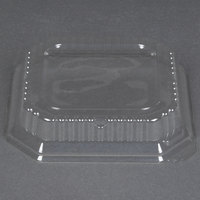 Genpak SQ97 7 inch Clear Square Dome Bowl Lid   - 500/Case