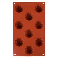 Matfer Bourgeat 257905 Gastroflex Silicone 9 Compartment Brioche Mold