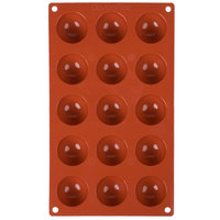 Matfer Bourgeat 257901 Gastroflex Silicone 15 Compartment Mini Half Sphere Mold