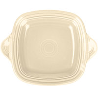 Homer Laughlin 1456330 Fiesta Ivory 10 3/4 inch Square Tray with Handles - 4/Case