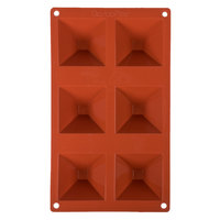 Matfer Bourgeat 257921 Gastroflex Silicone 6 Compartment Pyramid Mold