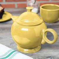 Homer Laughlin 496320 Fiesta Sunflower 44 oz. Covered Teapot - 4/Case