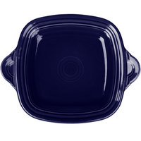 Homer Laughlin 1456105 Fiesta Cobalt Blue 10 3/4 inch Square Tray with Handles - 4/Case