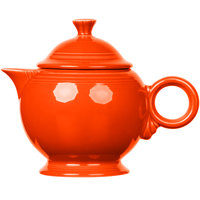 Homer Laughlin 496338 Fiesta Poppy 44 oz. Covered Teapot - 4/Case