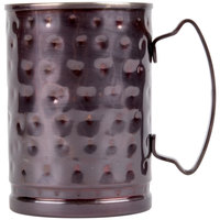 World Tableware MM-200 14 oz. Moscow Mule Cup with Hammered Antiqued Copper Finish - 4/Pack