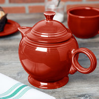 Homer Laughlin 496326 Fiesta Scarlet 44 oz. Covered Teapot - 4/Case