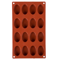 Matfer Bourgeat 257919 Gastroflex Silicone 16 Compartment Oval Petit Four Mold