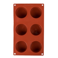 Matfer Bourgeat 257915 Gastroflex Silicone 6 Compartment Muffin Mold
