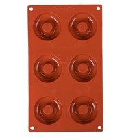 Matfer Bourgeat 257928 Gastroflex Silicone 6 Compartment Savarin Mold