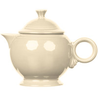 Homer Laughlin 496330 Fiesta Ivory 44 oz. Covered Teapot - 4/Case