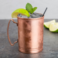 World Tableware CMM-200 14 oz. Straight Sided Copper Moscow Mule Mug - 4/Pack
