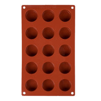 Matfer Bourgeat 257916 Gastroflex Silicone 15 Compartment Round Petit Fours Mold
