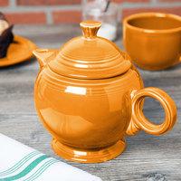 Homer Laughlin 496325 Fiesta Tangerine 44 oz. Covered Teapot - 4/Case