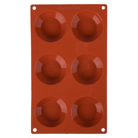 Matfer Bourgeat 257930 Gastroflex Silicone 6 Compartment Tatin Mold