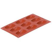 Matfer Bourgeat 257917 Gastroflex Orange Silicone 9 Compartment Madeleine Mold