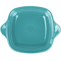 Homer Laughlin 1456107 Fiesta Turquoise 10 3/4 inch Square Tray with Handles - 4/Case