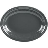 Homer Laughlin 457339 Fiesta Slate 11 5/8 inch x 8 7/8 inch Oval Medium China Platter - 12/Case