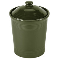Homer Laughlin 572340 Fiesta Sage 2 qt. Medium Canister with Cover - 2/Case