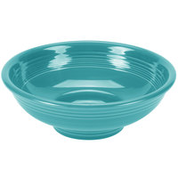 Homer Laughlin 765107 Fiesta Turquoise 2 qt. Pedestal Serving Bowl - 4/Case