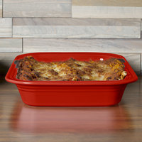 Homer Laughlin 962326 Fiesta Scarlet 9 inch x 9 inch Square Baker - 2/Case