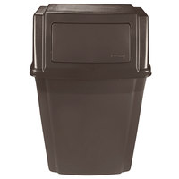 Rubbermaid FG782200BRN Brown 15 Gallon Wall Mount Trash Can