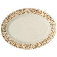 GET OP-618-OL 18 inch x 13 1/2 inch Olympia Oval Platter - 12/Case