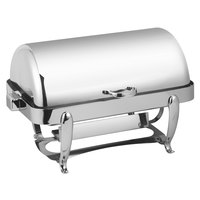 Eastern Tabletop 3114 Park Avenue 8 Qt. Rectangular Stainless Steel Roll Top Induction / Traditional Chafer