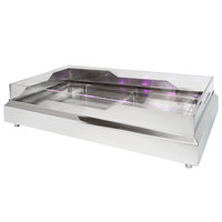 Eastern Tabletop RB3620 36 1/2 inch x 20 3/4 inch x 5 inch Rectangular Stainless Steel Raw Bar with Wave Design