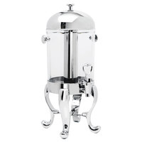 Eastern Tabletop 7542 Freedom 2 Gallon Stainless Steel Beverage Dispenser with Acrylic Container and Ice Core
