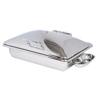 Eastern Tabletop 3935 Crown 8 Qt. Rectangular Stainless Steel Induction Chafer with Hinged Dome Cover