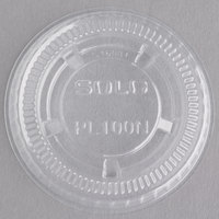 Dart Solo PL100N Small Clear Plastic Souffle / Cup Lid - 2500/Case