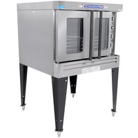 Bakers Pride BPCV-G1 Restaurant Series Natural Gas Bakery Depth Single Deck Full Size Convection Oven - 90,000 BTU