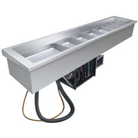 Hatco CWB-S4SLANT Four Pan Slanted Refrigerated Slim Drop-In Cold Food Well - 120V